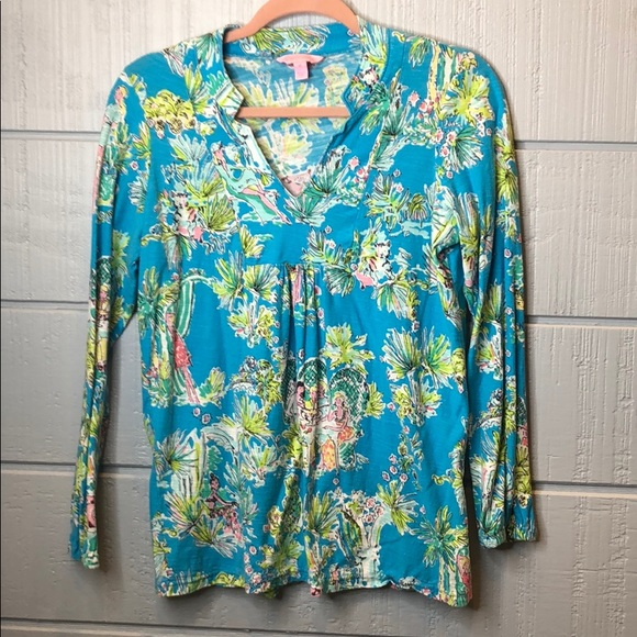 Lilly Pulitzer Tops - Lily Pulitzer Joycee jungle glam tunic toile